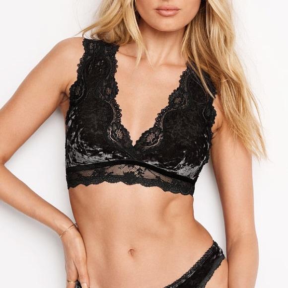 42ef84c831530 Victoria s Secret Crushed Velvet Plunge Bralette